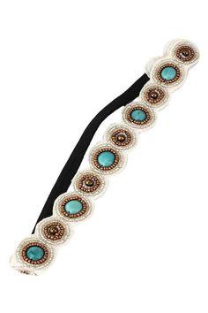Turquoise Bead Headband