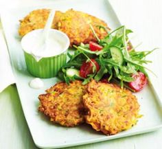 Zucchini & Sweet Potato fritters... Low fat, Low sodium, High fibre, High protein, High calcium and low cost