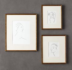 Making a note to reframe all of my art prints into the Gilt Gallery Frames from Restoration Hardware. French Country Dining Room, French Country Cottage, French Country Style, A Frame Cabin, A Frame House, Gallery Frames, Gallery Wall, Diploma Display, Cabin Kits