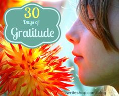 """30 Days of Gratitude 