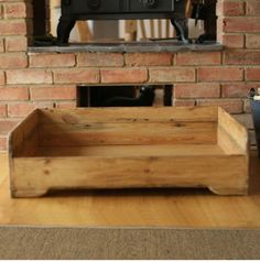 Hunt & Wilson handmade wooden dog bed large by 4legsonline on Etsy More