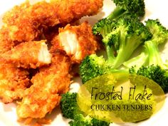 Frosted Flake Chicken Tenders #recipe #fried #cereal