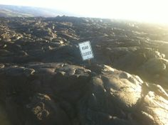 The End of the Road (Chain of Craters - Lava Viewing Area) in Hawaii County, HI- can hike here 13 miles round trip to lava?