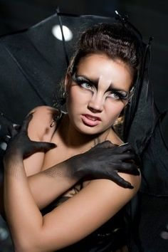 like the hand makeup, not sure if I want to use my black gloves or something like this