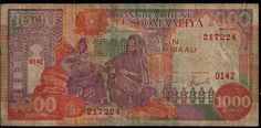 This is a Type of Money in Somalia - and that picture right their is one thousand in somali money. One Thousand, Somali, African Animals, Vintage World Maps, Birds, Draw, Money, Type, Pictures