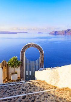 Santori. Gate into heaven, Cyclades, Greece by Lena Serditova - Photo 83626061 / 500px