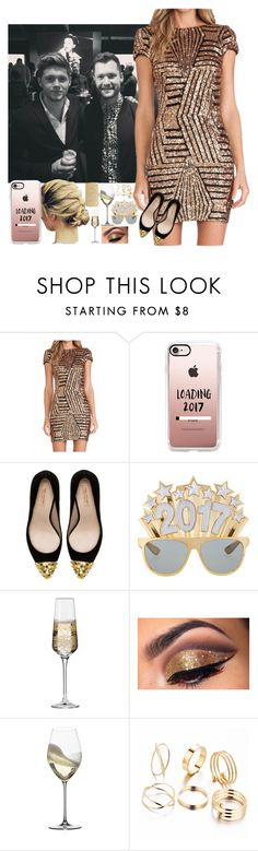 """""""bringing in the New Year w/Niall & our friends"""" by nblankenship ❤ liked on Polyvore featuring Casetify, Zara, Krosno, Riedel and Nina"""