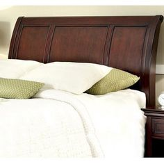 Home Styles Lafayette King/California King Sleigh Headboard, Rich Cherry, Red
