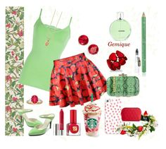 """Strawberry Summer"" by gemique ❤ liked on Polyvore featuring York Wallcoverings, Cole & Son, 77Queen, Casetify, BKE, La Fille Des Fleurs, Chanel, Clinique, Estée Lauder and Liberty"