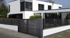 modern metal fencing - Google Search