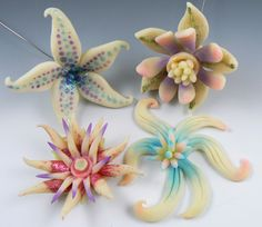 glow in the dark flowers -- a free polymer clay project from christi friesen
