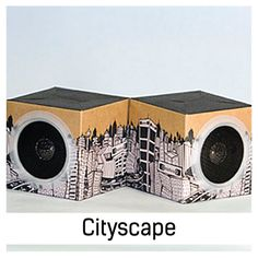 Love this: Fold N' Play Recycled Speakers