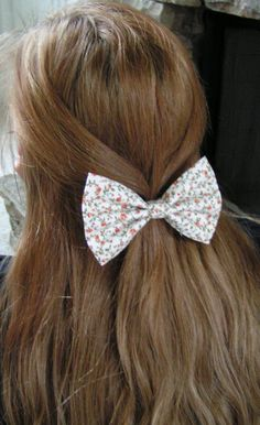Hair Bow-Small Floral, floral hair bow, hairbow,hairbows, Hair Bows, girls, women, bow, bows on Etsy, $3.79