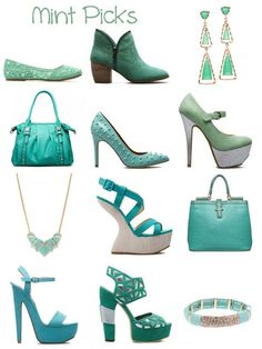 Mint shoes and accessories via ShoeDazzle