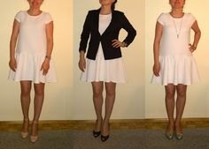 3 ways to... white dress  www.minimalnat.com