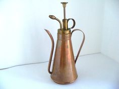 Vintage Copper & Brass Olive Oil Can/Sprayer
