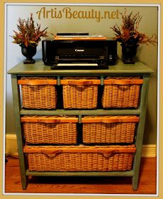 Delicieux ART IS BEAUTY: Wicker Storage Basket Dresser Make Over   The Amazing Thing  To Me Is That She Found All Of The Baskets To Fit Exactly!