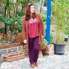 Tenue du jour sur le Blog #navarro #folkstyle  Outfit of the day online.🍁🍂🍃 Http://blog.ninaah.com