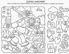 Finding Objetcs / I Spy with my little eye Hidden Pictures, Hidden Pics, Picture Puzzles, Hidden Objects, Activity Sheets, Preschool Worksheets, Fun At Work, Colouring Pages, Pre School