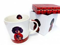 Tiermotiv TassenHunde Motiv Tasse: Arthur - Dackel, Tasse mit Box