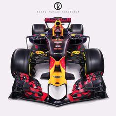 Red Bull Racing 2017 Concept on Behance Formula 1 Car Racing, Indy Car Racing, Red Bull F1, Red Bull Racing, Grand Prix, Nascar, Luxury Hybrid Cars, Stock Car, Gp F1