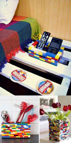 Objetos para el hogar hechos con LEGO