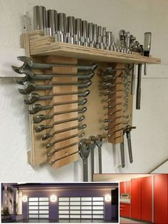 Teds Wood Working - Teds Wood Working - Résultat de recherche dimages pour french cleat tool storage for wrenches Get A Lifetime Of Project Ideas Inspiration! - Get A Lifetime Of Project Ideas & Inspiration! Garage Tool Storage, Workshop Storage, Garage Tools, Garage Shop, Garage Organization, Organized Garage, Organization Ideas, Organizing, Workshop Design