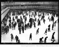 La piscine Molitor transformée en patinoire, 1932