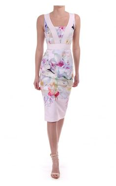 0356fc178e9 Ted Baker Womens Arienne Dress In Hanging Gardens Print Pale Pink Ted Baker  Womens
