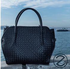 Soft woven leather bag Leather Bag, Black Leather, Tote Bag, Lady, Fashion, Handbags, Black Patent Leather, Moda, Totes