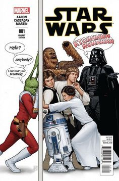 Star Wars #1 - Variant John Tyler Christopher Humorous Party Color Cover