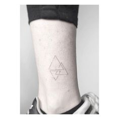 triangles ************************************ #triangletattoo #tattoo #black…