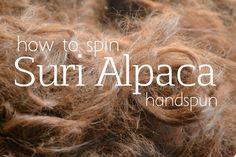 How to Lock Spin Suri Alpaca Yarn