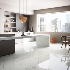 White Marble   Brachot-Hermant   Carrara   Dreamkitchen