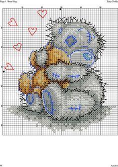 Community wall photos | 32,791 photos | VK Cross Stitch Needles, Cute Cross Stitch, Cross Stitch Animals, Cross Stitch Kits, Cross Stitch Charts, Cross Stitch Designs, Cross Stitch Patterns, Tatty Teddy, Cross Stitching