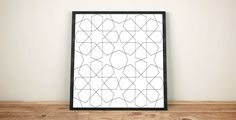Geometric wall art, Geometric drawing