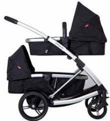 Phil & Ted's double bassinet, double pram stroller