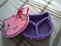 Caseta de bijuterii hello kitty  quilling