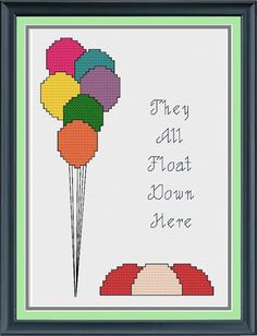 They All Float Down Here Cross Stitch Pattern by GratuitousGeek