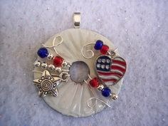 Cute patriotic pendant by Washer Wear, Visit Washer Wear on facebook @ www.facebook.com/Washerwear