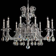 """Schonbek Genzano 39"""" Wide Silver 11-Light Chandelier 8K cost, if I want to splurge, but this has a quality look to it!"""