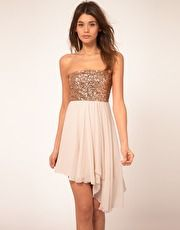 ASIS Sequin Bandeau in Blush and Gold Bridesmaid Dress - $80 Hannah Clevenger- Beautiful!!!