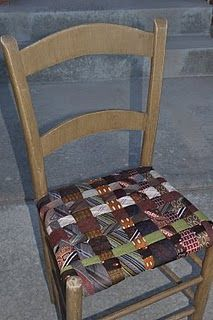 neck tie chair seat cover  http://cassandradesign.blogspot.com/2010/09/tie-one-on-fallhalloween-tie-chair.html