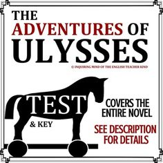The Adventures of Ulysses by Bernard Evslin - Quiz Bundle School Resources, Teaching Resources, Teaching Ideas, Middle School, High School, Literary Terms, Summative Assessment, Reading Comprehension Skills, Multiple Choice