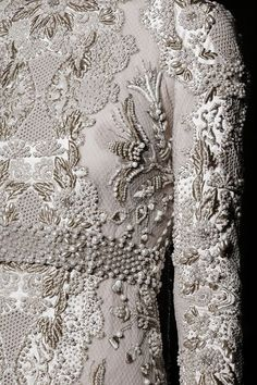 Embroidery at Valentino Haute Couture, Fall 2013