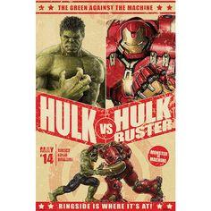 "#Poster ""Age Of Ultron - Hulk Vs. Hulkbuster"" degli #Avengers."