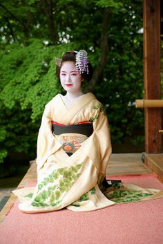 Senior Maiko, Kimihiro, of  Kyoto during the month of May.