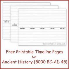 blank timeline printable