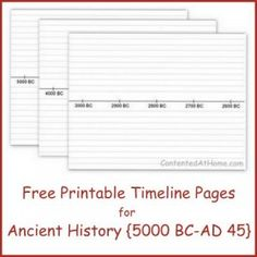 Free Printable Timeline Pages for Ancient History