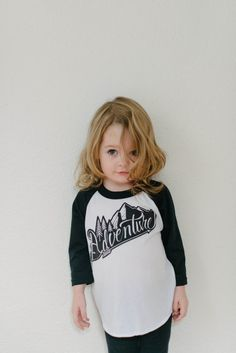 Kids Adventure Baseball Tee. www.acanthusapparel.etsy.com